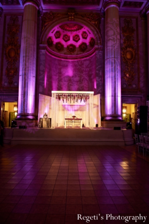 Indian wedding reception inspiration lighting