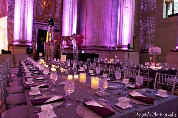 Indian wedding reception lighting decor