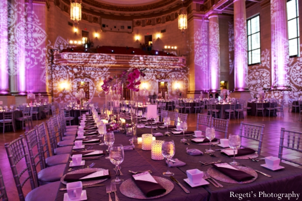 Indian wedding reception lighting inspiration decor