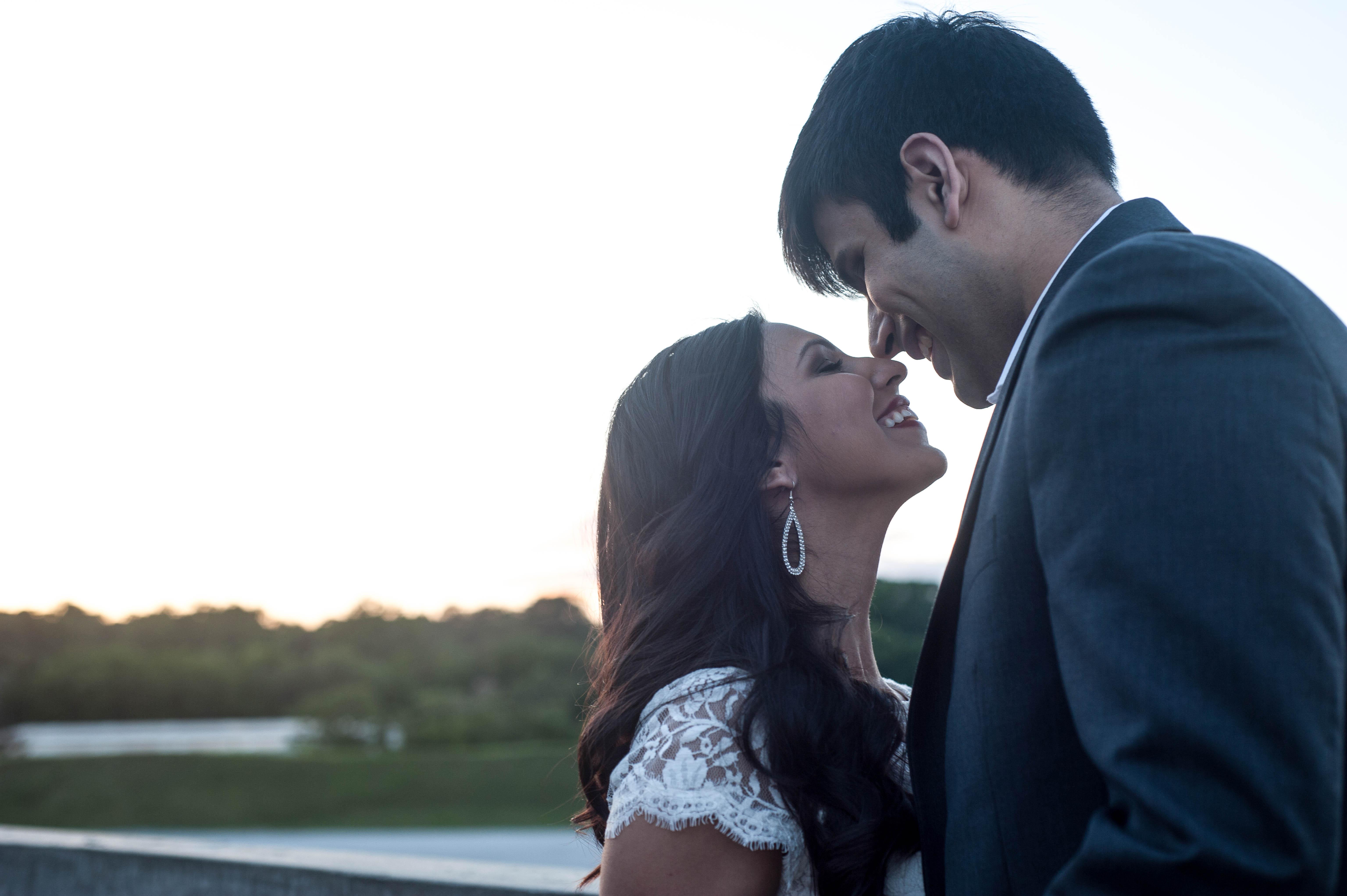 Engagement indian wedding portraits bride groom in Sweetheart Sunday Winners ~ Sabrina & Sahir