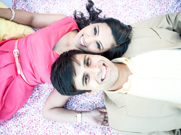 Indian engagement photos groom bride in Sweetheart Sunday Winners ~ Sabrina & Sahir