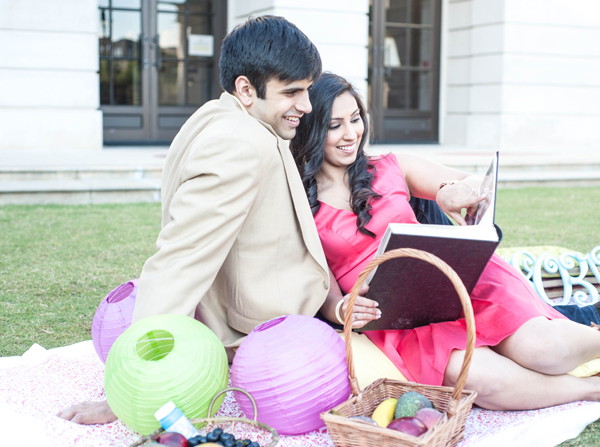 Indian engagement portraits wedding outdoor in Sweetheart Sunday Winners ~ Sabrina & Sahir