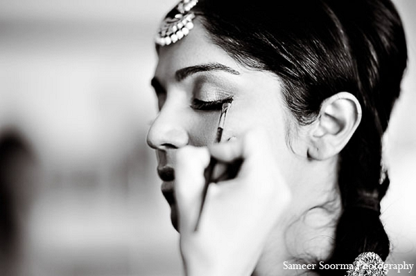 Indian bridal hairstyle makeup wedding in Phoenix, Arizona Indian Wedding by Sameer Soorma Photography