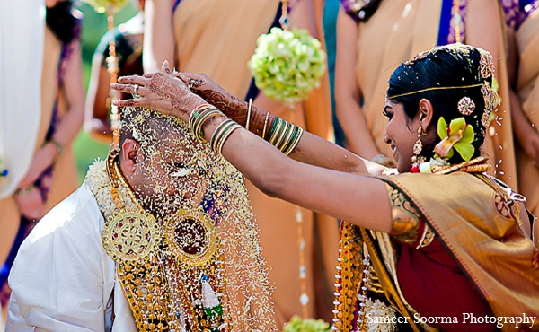 Indian bride groom photography custom in Phoenix, Arizona Indian Wedding by Sameer Soorma Photography