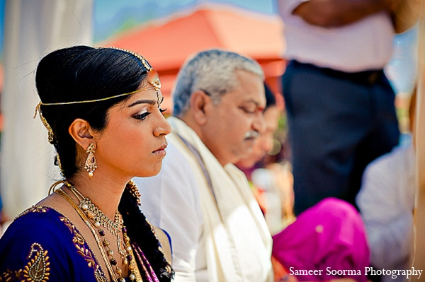 Indian bride wedding photography makeup in Phoenix, Arizona Indian Wedding by Sameer Soorma Photography