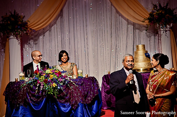 Indian reception bride groom decor in Phoenix, Arizona Indian Wedding by Sameer Soorma Photography