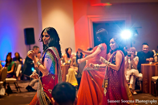 Indian reception fashion outfit clothing in Phoenix, Arizona Indian Wedding by Sameer Soorma Photography