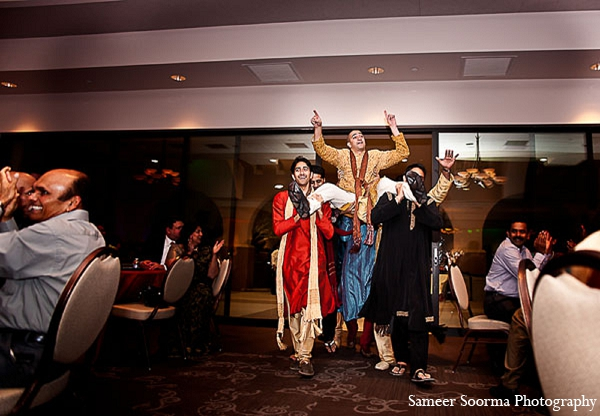 Indian reception groom fashion tradition in Phoenix, Arizona Indian Wedding by Sameer Soorma Photography