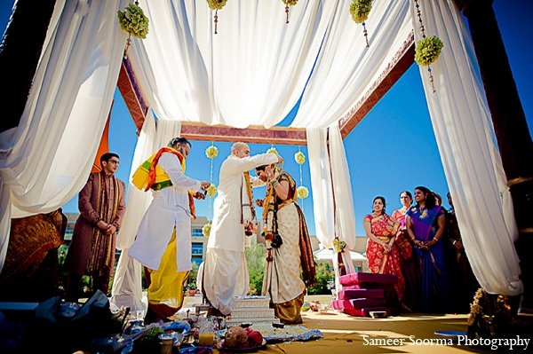 Indian wedding bride groom mandap tradition in Phoenix, Arizona Indian Wedding by Sameer Soorma Photography