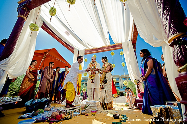 Indian wedding bride groom mandap in Phoenix, Arizona Indian Wedding by Sameer Soorma Photography