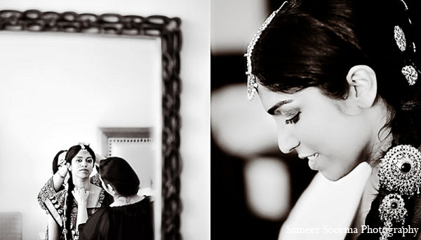 Indian wedding bride photography makeup in Phoenix, Arizona Indian Wedding by Sameer Soorma Photography