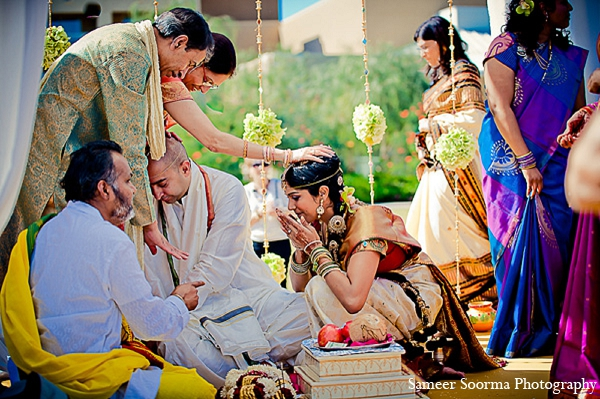 Indian wedding mandap bride tradition in Phoenix, Arizona Indian Wedding by Sameer Soorma Photography