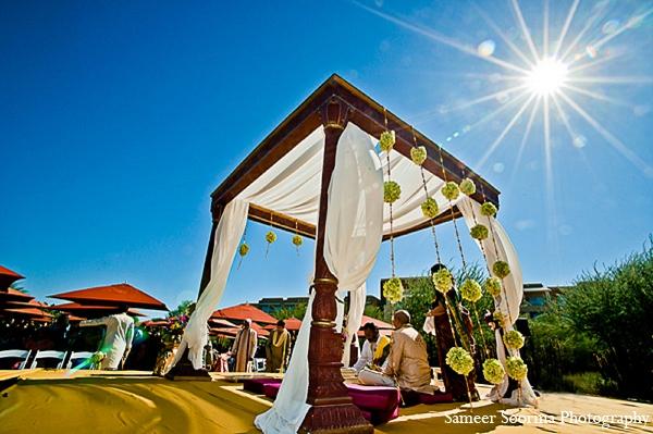 Indian wedding mandap venue photography in Phoenix, Arizona Indian Wedding by Sameer Soorma Photography