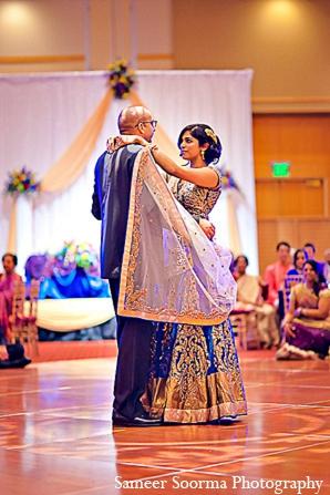 South indian reception fashion bride groom in Phoenix, Arizona Indian Wedding by Sameer Soorma Photography
