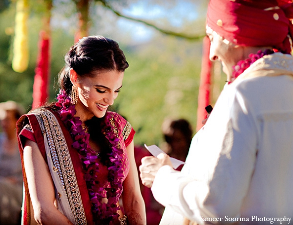 Indian wedding bride ceremony groom in Phoenix, Arizona Indian Wedding by Sameer Soorma Photography