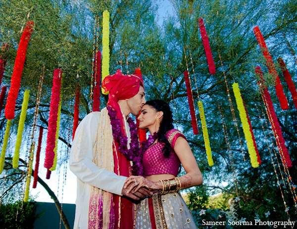 Indian wedding bride groom ceremony portraits in Phoenix, Arizona Indian Wedding by Sameer Soorma Photography