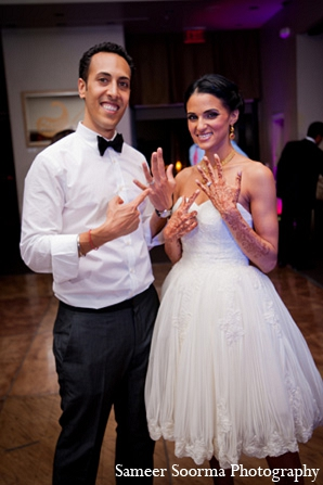 Indian wedding bride groom reception rings in Phoenix, Arizona Indian Wedding by Sameer Soorma Photography