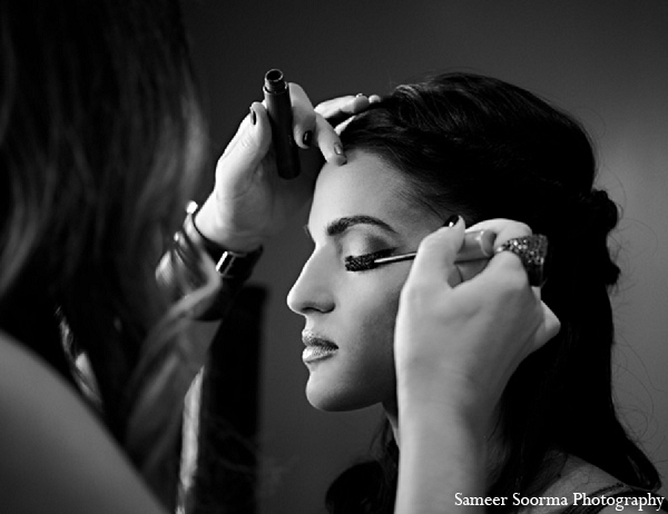 Indian wedding bride makeup getting ready in Phoenix, Arizona Indian Wedding by Sameer Soorma Photography