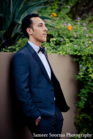 Indian wedding portraits groom tuxedo attire in Phoenix, Arizona Indian Wedding by Sameer Soorma Photography