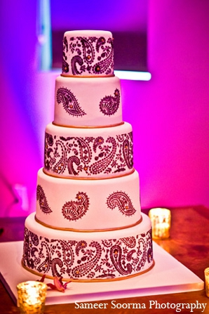 Indian wedding reception cake mehndi in Phoenix, Arizona Indian Wedding by Sameer Soorma Photography
