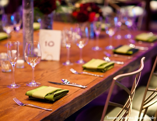 Indian wedding reception decor green simple in Phoenix, Arizona Indian Wedding by Sameer Soorma Photography