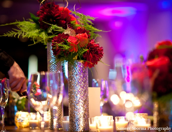 Indian wedding reception decor roses floral in Phoenix, Arizona Indian Wedding by Sameer Soorma Photography