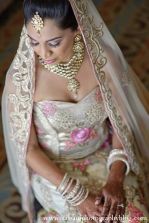 Indian-wedding-getting-ready-bride-lengha