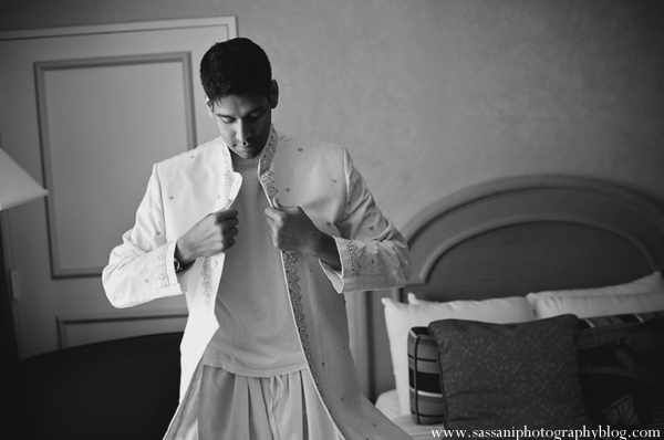 Indian-wedding-getting-ready-groom-black-white