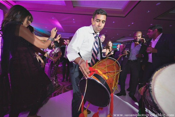 Indian-wedding-reception-guests-dancing