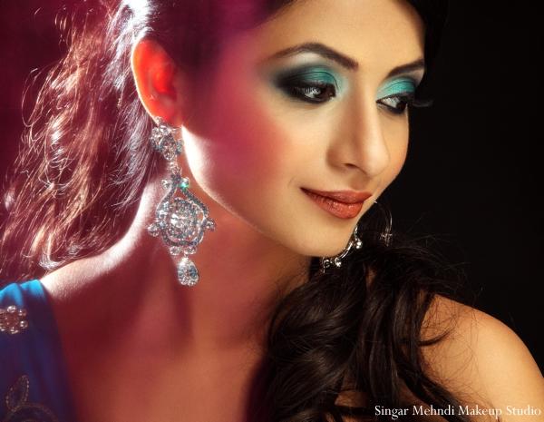 Indian wedding bridal jewelry earrings