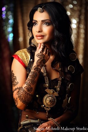 Indian wedding bridal portrait mehndi