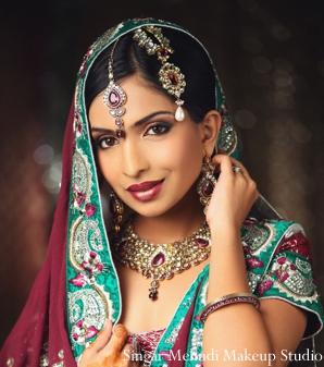 Indian wedding bridal portrait necklace tikka