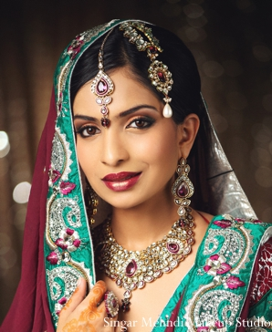Indian wedding bridal portrait tikka necklace