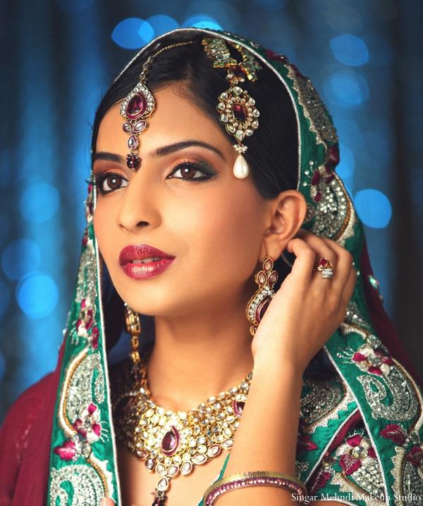 Indian wedding bridal tikka jewelry gold