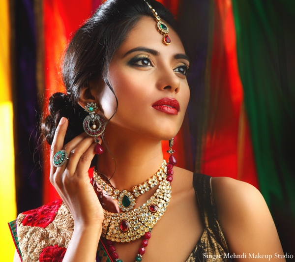 Indian wedding makeup jewelry hair inspiration