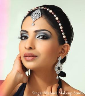 Indian wedding tikka earrings diamond