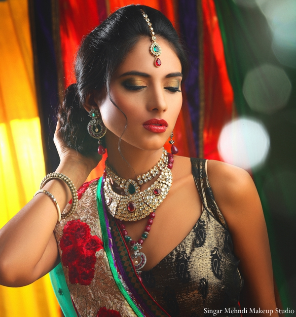 Indian wedding tikka hair inspiration jewelry