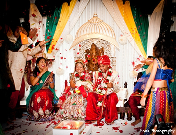 Indian wedding bride groom hindu ceremony in Orlando, FL Indian Wedding by Sona Photography