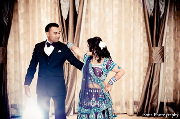 This South Asian couple gather friends and family for their wedding celebrations. They wed in a traditional Hindu ceremony and have an opulent reception for the finale.