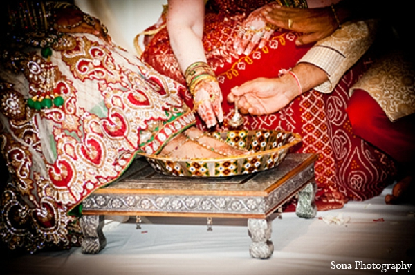 Indian wedding bride tradition ceremony in Orlando, FL Indian Wedding by Sona Photography
