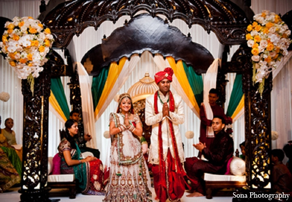 Indian wedding ceremony bride groom mandap in Orlando, FL Indian Wedding by Sona Photography