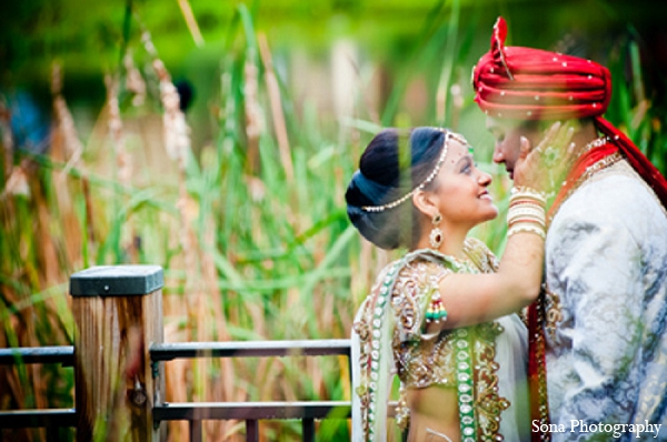 Indian wedding first look bride groom in Orlando, FL Indian Wedding by Sona Photography