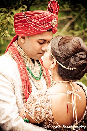 Indian wedding groom bride portraits in Orlando, FL Indian Wedding by Sona Photography