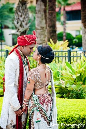 Indian wedding portraits bride groom in Orlando, FL Indian Wedding by Sona Photography