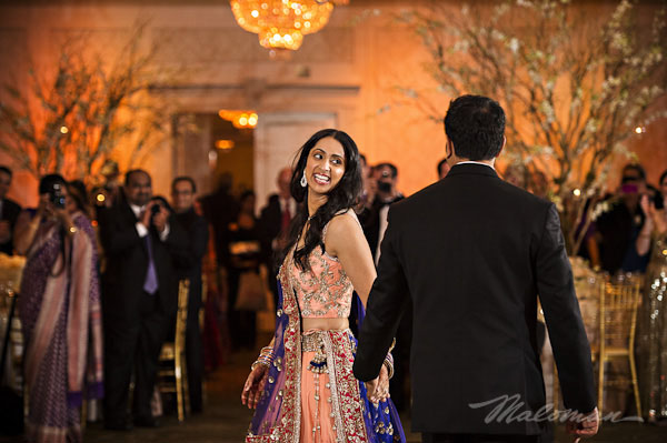 Indianweddingbrideandgroomdancingreception