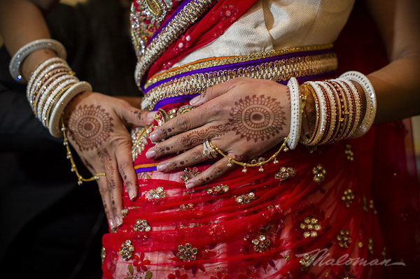 Indianweddingbrideandgroomhennaandjewelry