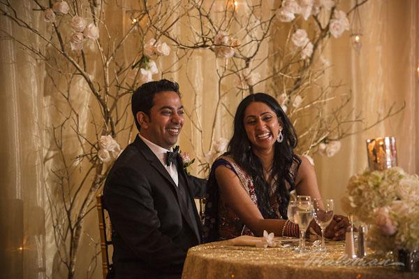 Indianweddingbrideandgroomtreeflowerdecorandtablearrangement