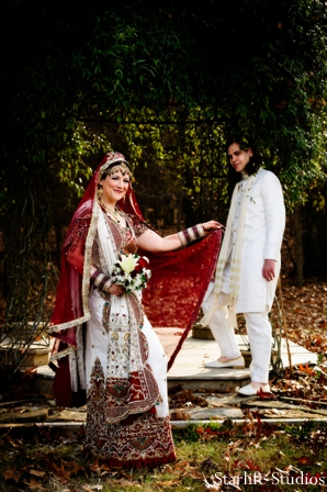 Indian wedding bride groom portrait lengha sherwani in Memphis, TN Indian Wedding by Starlife Studios