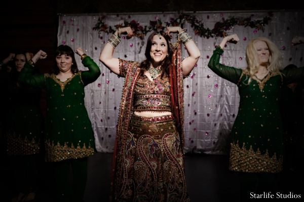 Indian wedding bride reception entertainment in Memphis, TN Indian Wedding by Starlife Studios