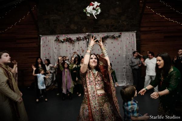 Indian wedding lengha reception dancing in Memphis, TN Indian Wedding by Starlife Studios